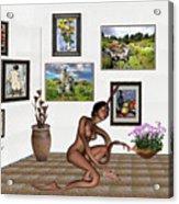 digital exhibition _beautiful Girl  - Zombie Acrylic Print
