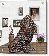 digital exhibition _Modern Statue of scrap Acrylic Print