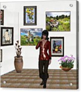 Digital Exhibition _posing Girl 221 Acrylic Print