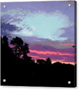 Digital Fine Art Work Sunrise In Violet Gulf Coast Florida Acrylic Print