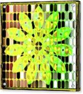 Digital Floral Acrylic Print