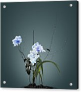 Digital Flower Arrangement Acrylic Print by GuoJun Pan