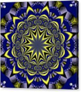 Digital Fractal Poster Acrylic Print