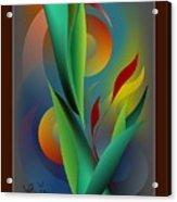 Digital Garden Dreaming Acrylic Print