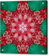 Digital Kaleidoscope Red-green-white 8 Acrylic Print