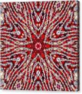 Digital Kaleidoscope Red-white 4 Acrylic Print