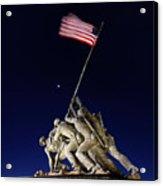 Digital Liquid - Iwo Jima Memorial At Dusk Acrylic Print by Metro DC Photography