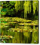 Digital Paining Of Monet's Water Garden  Acrylic Print