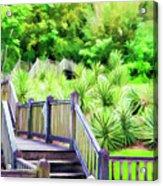 Digital Paint Landscape Jefferson Island  Acrylic Print