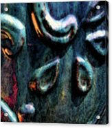 Digital Painting Abstract Blue 2364 Dp_2 Acrylic Print