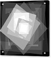 Digital Rose. Black And White Acrylic Print