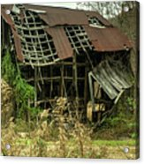 Dilapidated Barn Morgan County Kentucky Acrylic Print