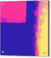 Dimensional Depth Of Squares  Acrylic Print