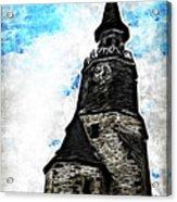 Dinan Clock Tower Acrylic Print