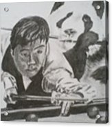 Ding Junhui Snooker Acrylic Print