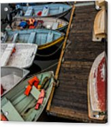 Dinghies At Town Wharf Acrylic Print