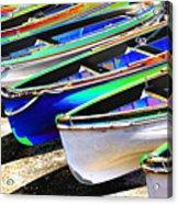 Dinghies On Beach Acrylic Print