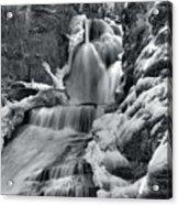 Dingmans Falls In Winter Acrylic Print