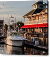Dining At The Marina Acrylic Print