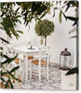 Dining In The Courtyard Acrylic Print