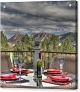 Dining With A View Acrylic Print