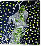 Dinka Maiden Dancing - South Sudan Acrylic Print