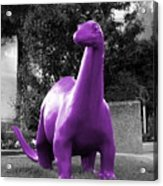 Dino Selective Coloring In Ultra Violet Purple Photography By Colleen Acrylic Print