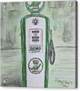 Dino Sinclair Gas Pump Acrylic Print