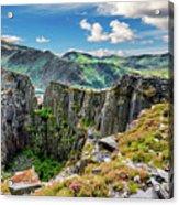 Dinorwic Slate Quarry Snowdon Acrylic Print