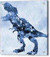 Dinosaur Rex-blue Acrylic Print