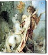 Diomedes Devoured By His Horses Watercolour Gustave Moreau Acrylic Print