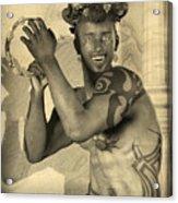 Dionysus Sepia Old Acrylic Print