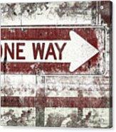Directions Acrylic Print
