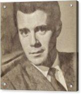 Dirk Bogarde, Vintage Actor By John Springfield Acrylic Print