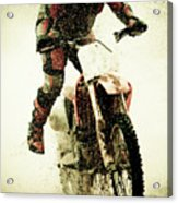 Dirt Bike Rider Acrylic Print by Thorpeland Photography