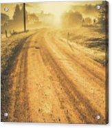 Dirt Road Sunrise Acrylic Print