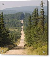 Dirt Road To Dolly Sods Acrylic Print
