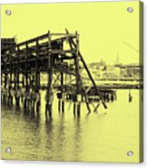 Disappearing Pier Acrylic Print