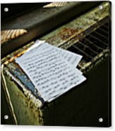 Discarded Notes Acrylic Print