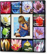 Discovering The Beuty Of The Lily Acrylic Print