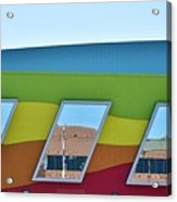 Discovery Science Center Window Reflection Acrylic Print