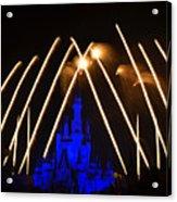 Disney Castle Fireworks Acrylic Print