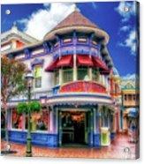 Disney Clothiers Main Street Disneyland 01 Acrylic Print