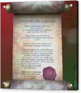 Disney World Christmas In The United States Scroll Acrylic Print