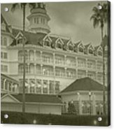 Disney World The Grand Floridian Resort Vintage Acrylic Print