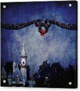 Disneyland Castle At Christmas Time Acrylic Print