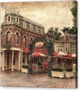 Disneyland Corner Cafe Pa Textured Acrylic Print