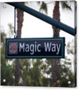Disneyland Magic Way Street Signage Acrylic Print