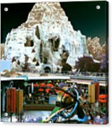 Disneyland Tomorrowland - Pop Color Acrylic Print