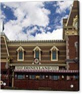 Disneyland Train Depot Signage Acrylic Print